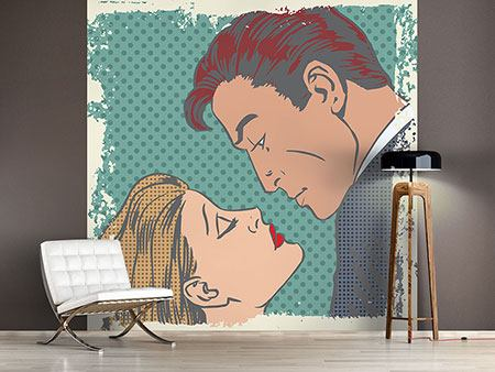 Wandbespannung Pop Art Liebe
